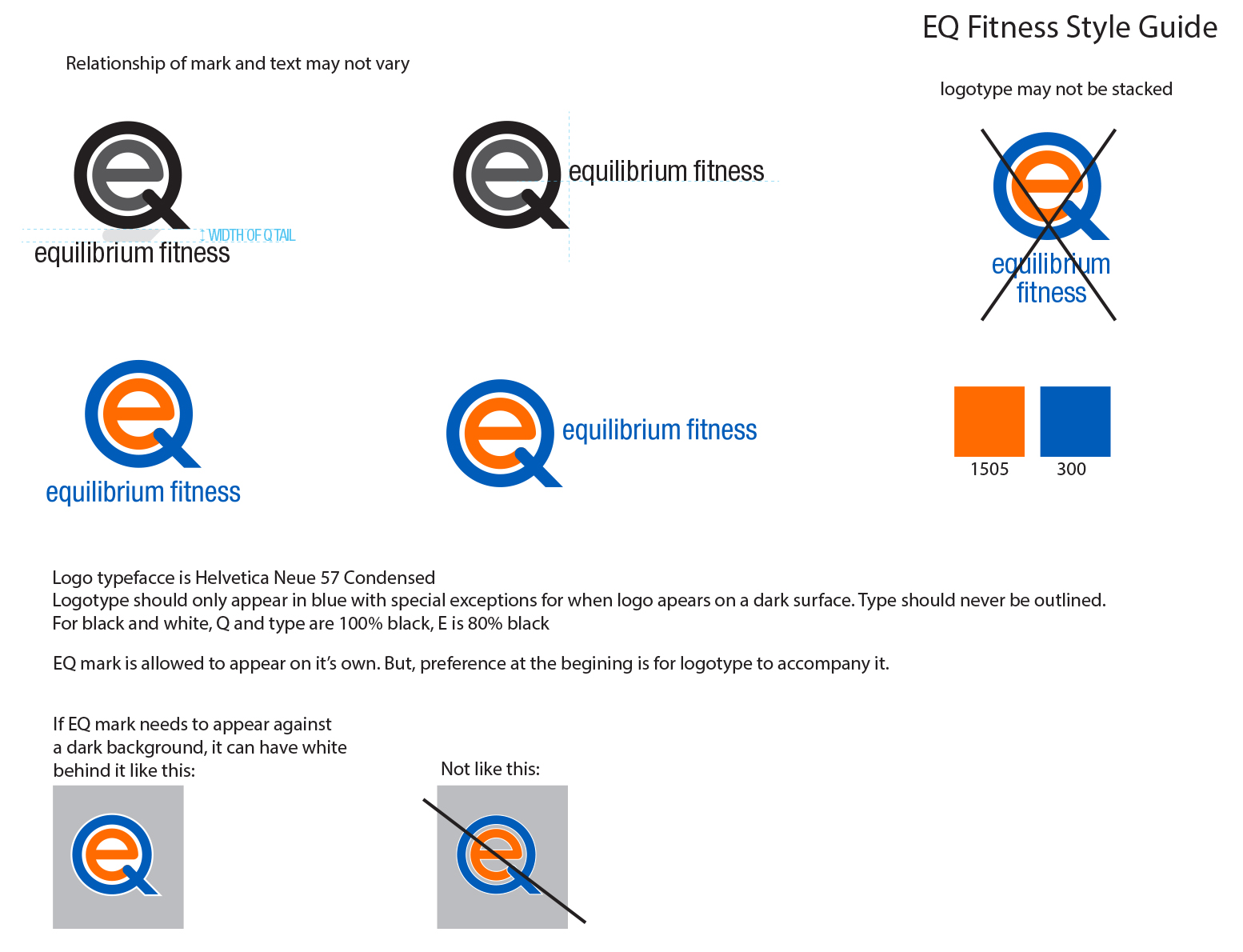 style guide EQ Fitness
